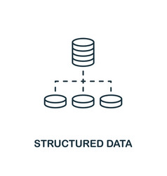 structured data outline icon thin line style from vector image