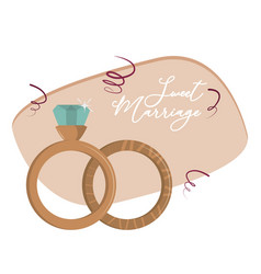 sweet marriage cartoon vector image