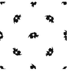 Switzerland map pattern seamless black vector