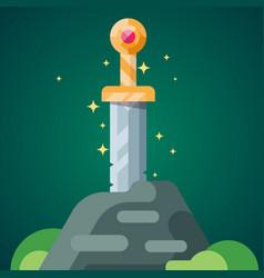 Sword stone 2 vector