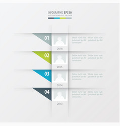Timeline design template green blue gray color vector