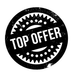 top offer rubber stamp vector image