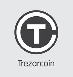 trezarcoin digital currency - web icon vector image