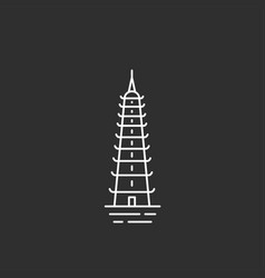 Vietnam landmark in outline style vector