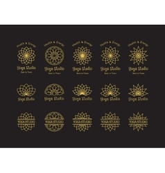 Yoga Studio Logo Templates Set vector image