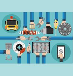 car service online concept design flat vector image vector image