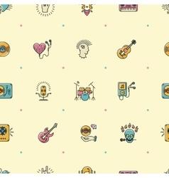 Music seamless pattern Rock punk jazz background vector image