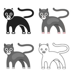 panther icon cartoon singe animal icon from the vector image vector image