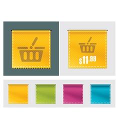 price tag ribbon vector image
