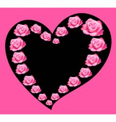 rose and heart vector image vector image