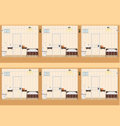 rows of prison cells vector image vector image