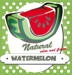 watermelon poster vector image vector image
