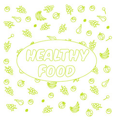 eat healthy poster or banner with hand-lettering vector image vector image