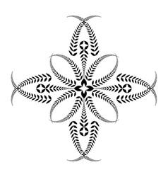Laurel wreath tattoo Cross Stylized black vector image vector image