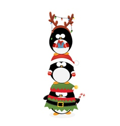 Penguins Piled Up vector image vector image