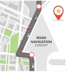 Road navigation concept vector image