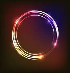 Abstract neon background with circles vector image