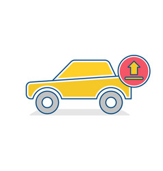 auto icon car traffic transport upload sign vector image vector image