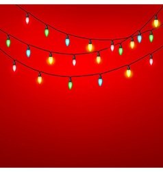 Colorful of light bulb on red background vector image