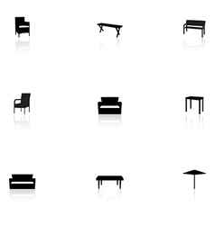 Furniture icons - outdoor vector image