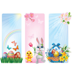 Banners for Easter vector image