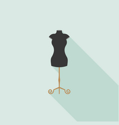 Black mannequin icon in flat design vector