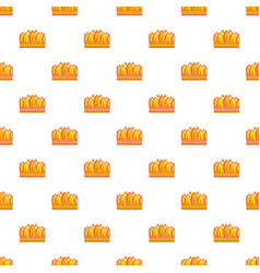 earl crown pattern seamless vector image vector image