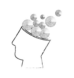 isolated abstract open mind vector image
