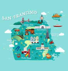 map of san francisco vector image