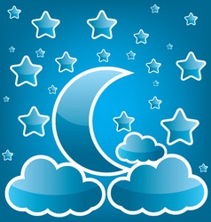 Moon and star vector image vector image