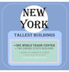 new york tallest buildings icon flat vector image vector image