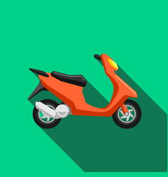 scooter transport flat icons set moped vector image
