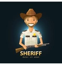 Sheriff logo design template police lapd vector