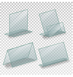 table blank plastic stand holder empty vector image