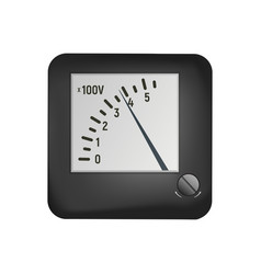 A voltmeter measures the electrical voltage vector