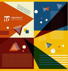 abstract colorful geometric pattern style vector image