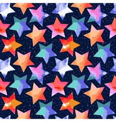 abstract grunge stars vector image
