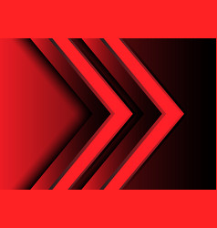 abstract red light arrow direction 3d design vector image