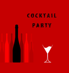 alcoholic bar menu red vector image