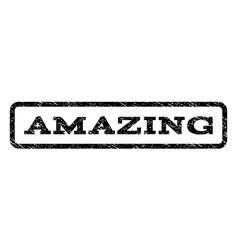 Amazing watermark stamp vector