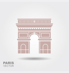 arc de triomphe paris france travel paris icon vector image