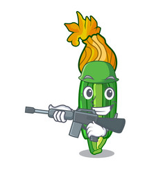 Army zucchini flowers obtained by mixing mascot vector