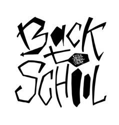 Back to school - isolated text lettering design vector