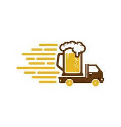 beer delivery logo icon design vector image