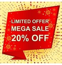 Big winter sale poster with LIMITED OFFER MEGA vector image