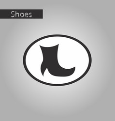 Black and white style icon high-heeled boots vector