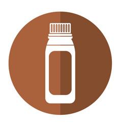 Bottle medicine healhy care icon shadow vector