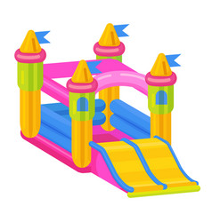 Bouncy castle icon jumping toy for leisure vector