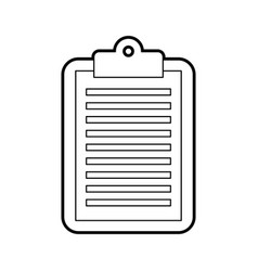 business clipboard paper report document vector image
