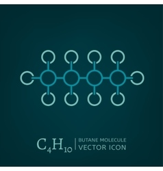 Butane Molecule Icon vector